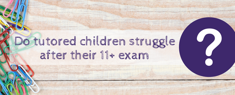 Do tutored children struggle after their 11+ exam?