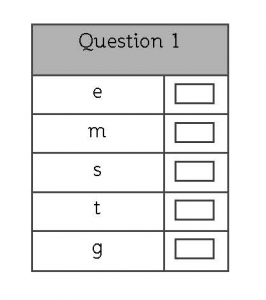 11 plus verbal reasoning practice question
